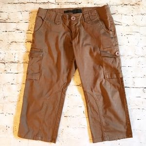 The Limited Cassidy Fit Brown Crop Capri Cargo 8